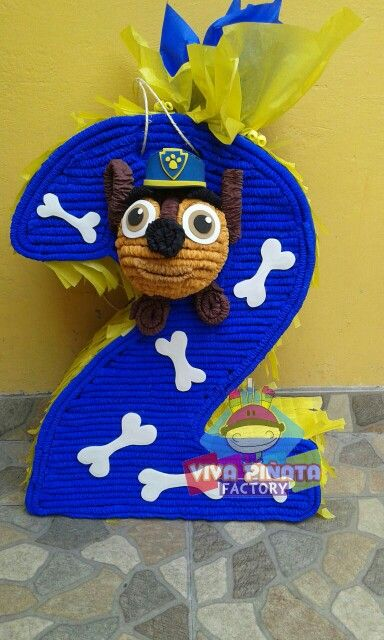 Piñata 2 Paw patrol... Checa nuestras piñatas de numero personalizadas, cualquier idea de tu pequeño nosotros la hacemos realidad.