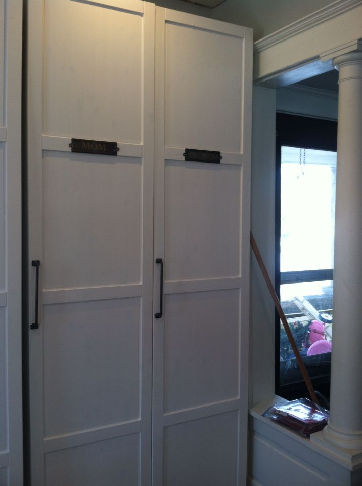 Ikea Pax Cabinets For Mudroom. Original Idea Was To Have 4