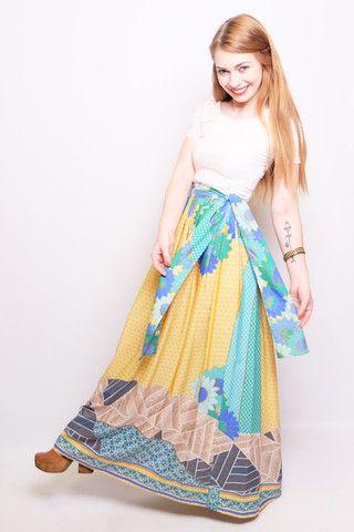 70's Big Flowers Maxi Skirt - Dear Gladys  www.deargladys.com.au