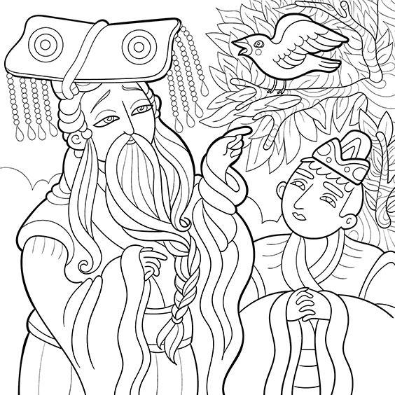 The Nightingale, Milana Samarskaya, fairy tales, Hans Christian Andersen, drawing
