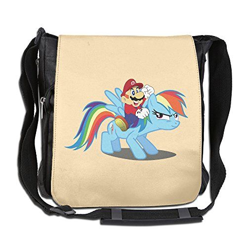Clevel Women Men Leisure Messenger Bag Super Mario Bros 3 My Little Pony Shoulder Bag