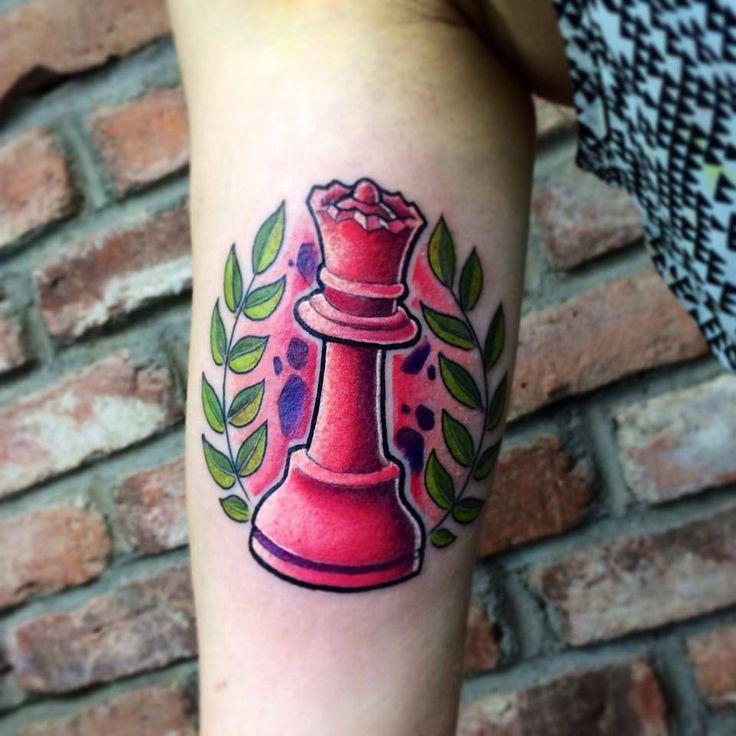 Resultado de imagen de tatuaje ajedrez