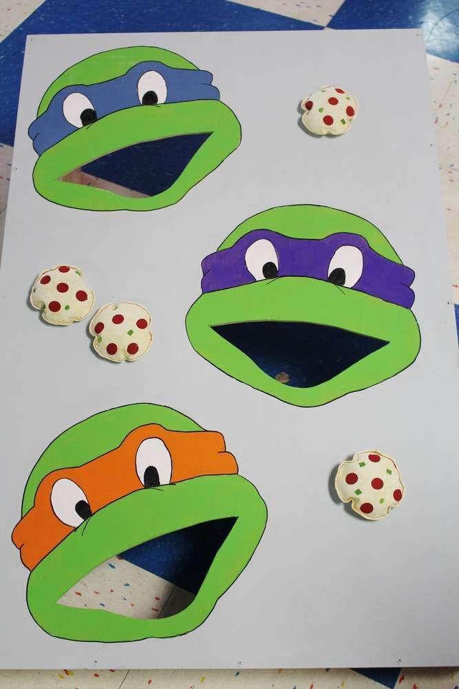 Totally awesome game at a Teenage Mutant Ninja Turtles birthday party! See more party ideas at CatchMyParty.com!