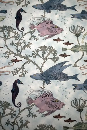 Fin U0026 Tentacle Is The Name Of This Whimsical Wallpaper Used In The  Downstairs Bathroom In The Herblin Shoe Historic House On Street.