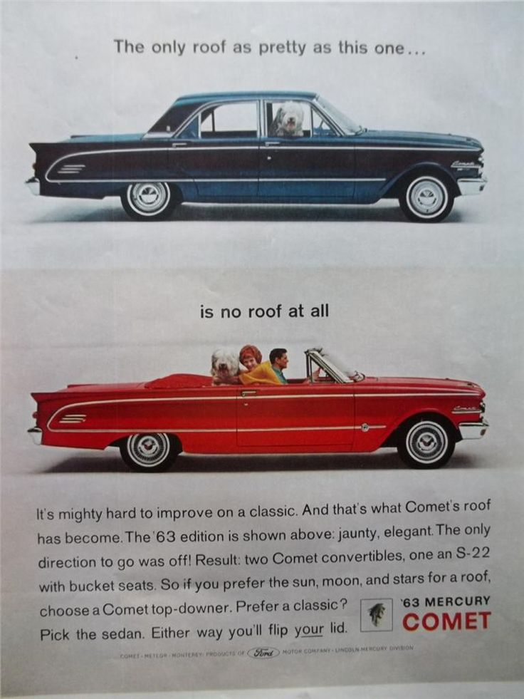 1962 Print Ad 1963 Blue Amp Red Mercury Comet Cars With