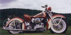 1947 Harley Davidson Knucklehead Side View