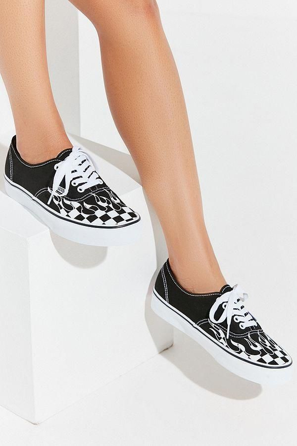 d3f1064c53 Slide View: 2: Vans Authentic Checkerboard Flame Sneaker ...