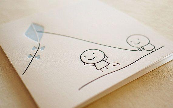Kite / Letterpress Card