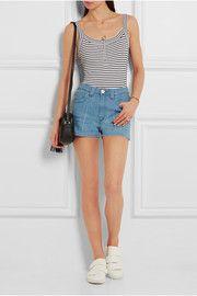 Bisham striped stretch-cotton bodysuit