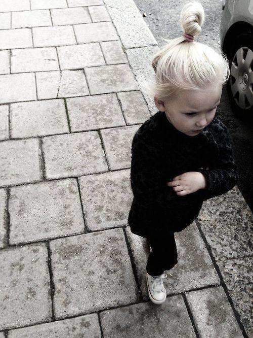 all black, chucks and top knot. yup. #girls #fashion