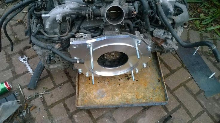 Pauls Subaru Engine Conversion Showing The Kennedy Adapter