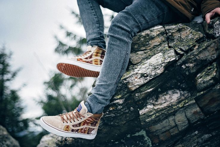 Those legs are ready for some hiking. Vans x PendletonSK8-HI: http://www.footshop.eu/en/mens-shoes/6023-vans-x-pendletonsk8-hi-mte-pendleton-tribal-tan.html #vans #pendleton #tribal #camel #footshop