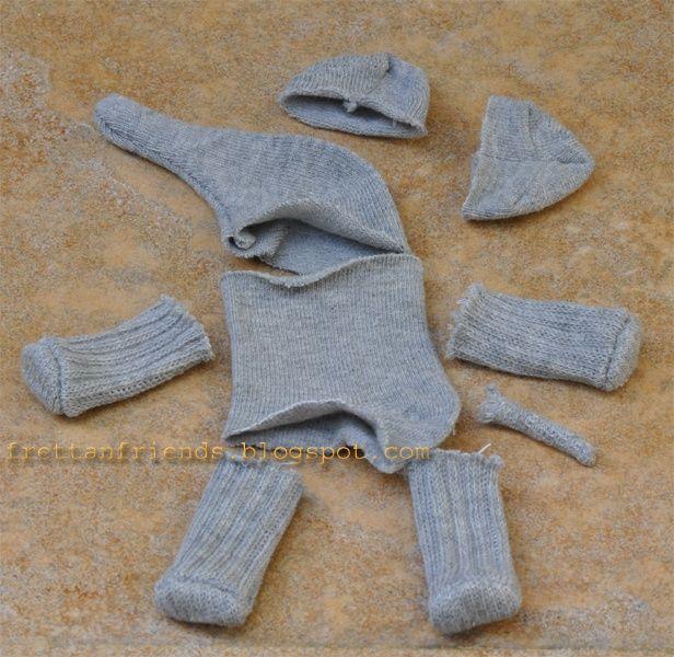 M s de 25 ideas incre bles sobre calcet n de animales en for Munecos con calcetines