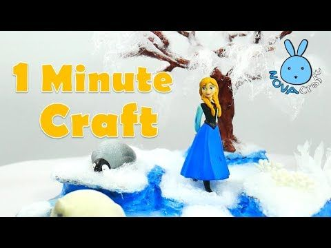 1 Minute Craft Project #01   Anna Frozen in Snow Garden   Hot Glue NOVA ...