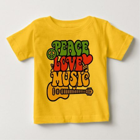 Rasta  Peace-Love-Music Baby T-Shirt - click/tap to personalize and buy