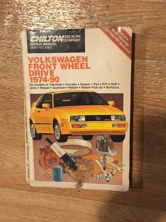Chilton Volkswagen Front Wheel Drive 1974 90 Repair Manual Part No 6962 Ebay Car Repair Service Volkswagen Book Repair