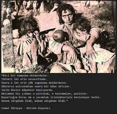 #cemalsüreya #dersimkatliamı  KATLİAMI LANETLİYORUZ! #sosyalizm #devrim