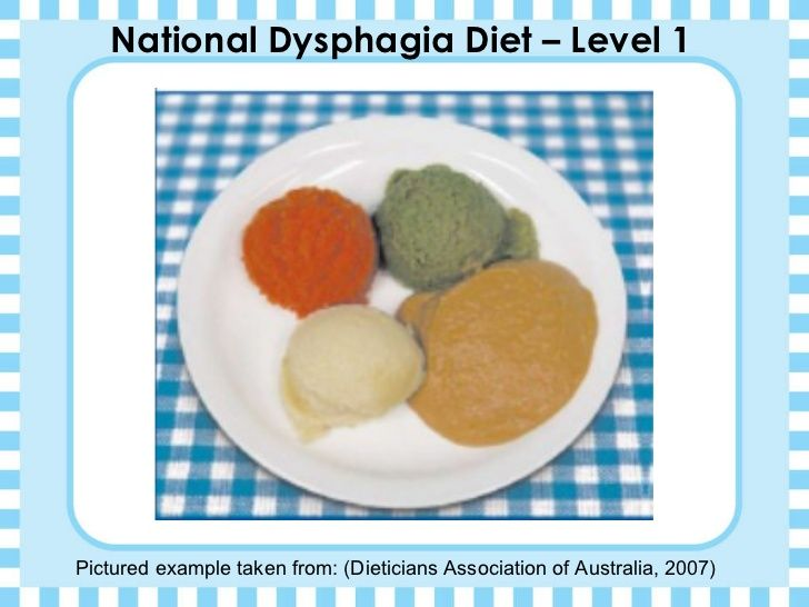 The 18 best dysphagia management images on pinterest management national dysphagia diet level 1 pictured example taken from dieticians association of australia soft foodsmultiple forumfinder Image collections