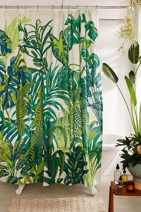 Dreamy Jungle Shower Curtain Bathrooms Pinterest Banos