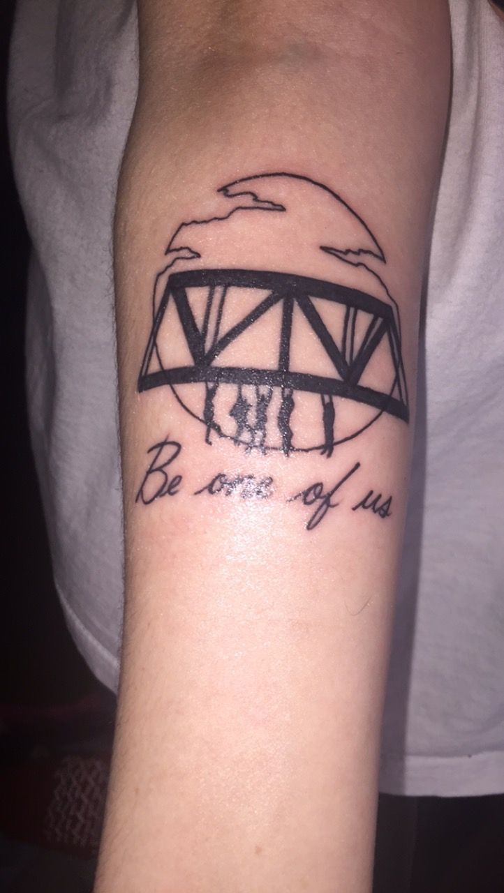 This One Is Actually Inspired By A Post I Saw On Here The Bridge Is The Same But I Had The Writing Added The Lost Boys Is Mini Tattoos Tattoos Vampire