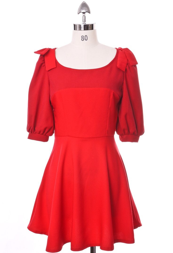 Bowknots Scarlet Dress: Retro Red, Desired Dresses, Dressy Dresses, Color, Bowknot Scarlet, Chicwish Dresses, Scarlet Dresses So, Pleated Scarlet, Bowknot Pleated