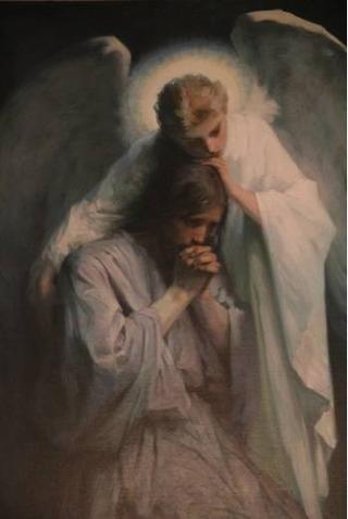 Angel Strengthen Jesus with Love.