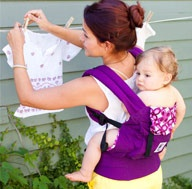 My fav carrier by far. You can carry you little one in the front, on your back, on your hip. Great for breast feeding in the carrier on the go, storing an iPhone, wallet, keys and a spare diaper, great for sun protection and head support for sleeping. Get it in a gender neutral color/pattern so that both Mom and Dad could use it.