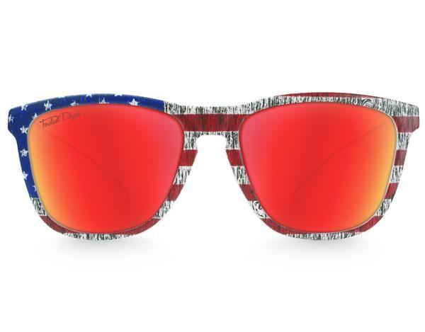 American Flag Red Lens sunglasses.