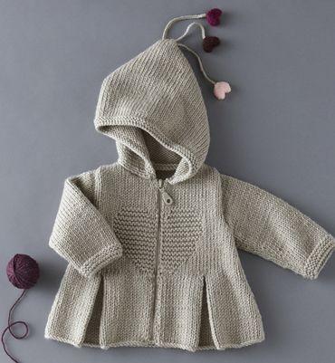 Knitting Patterns Phildar : Modele Gilet a pinces bebe - Modeles tricot layette - Phildar Punto, tricot...