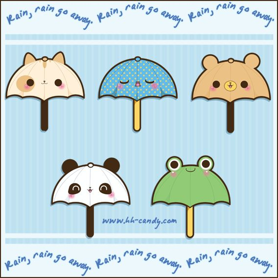 Sweet Animal Umbrellas by A-Little-Kitty.deviantart.com on @deviantART