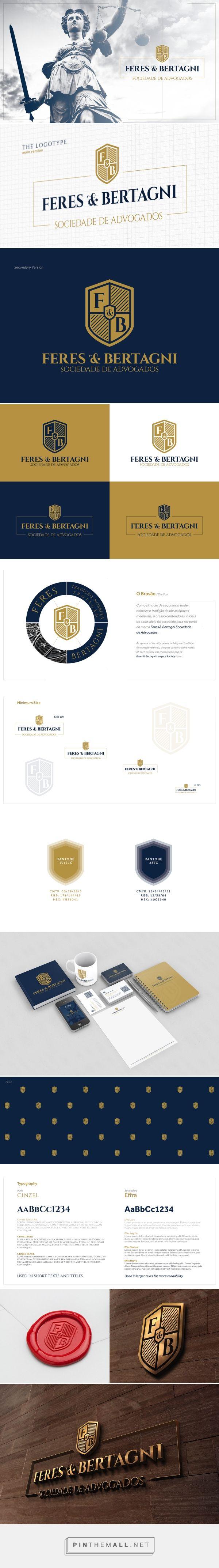 Designed by Yuri Miranda | Projeto de Identidade Visual para Feres & Bertagni Sociedade de Advogados. Baseado na forma clássica do brasão representando nobreza, segurança, solidez.
