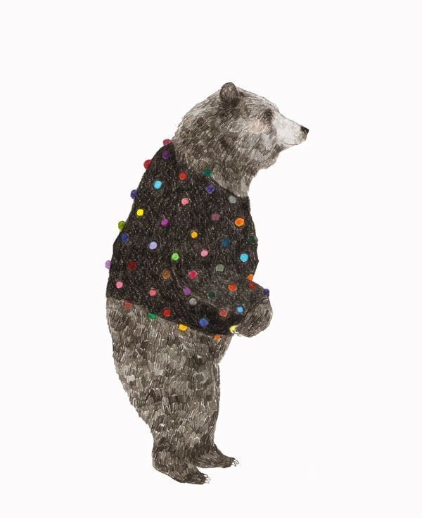 It's a bear in a sweater...