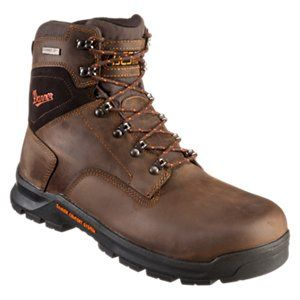 Danner Crafter Waterproof Non-Metallic Safety Toe Work Boots for Men - Brown - 10.5W