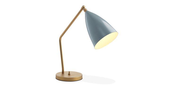 Grasshopper Bordlampe Gråblå - Kolstål - Grå-blå