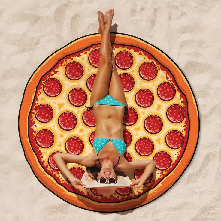 "7675 Riesige Stranddecke ""Donut"", ""Pizza"" oder ""Burger"""