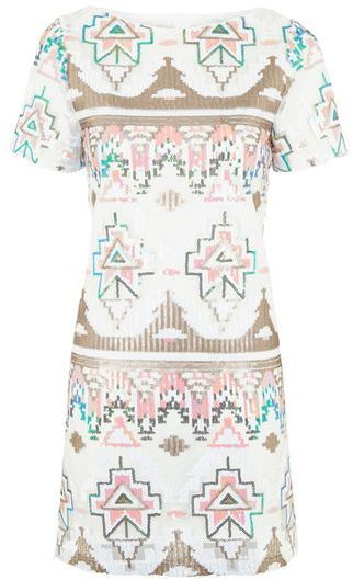 TopShop **Aztec Sequin T-Shirt Dress by Rare $76.01 down to   $42.23