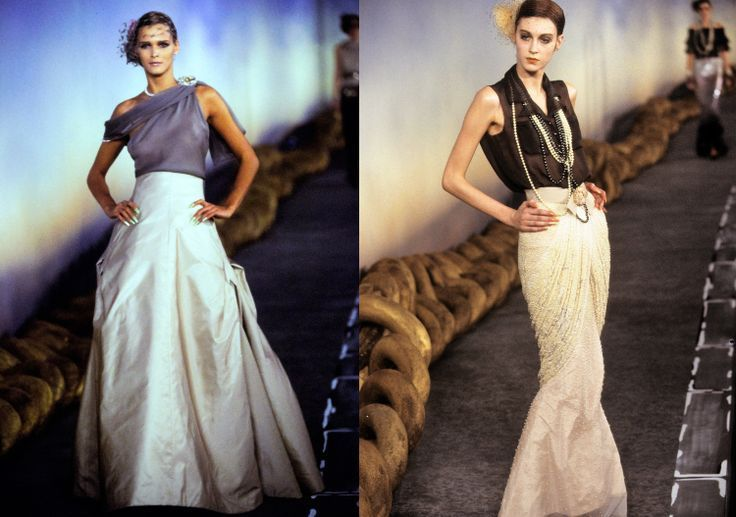 #Karl Lagerfeld Chanel Laufsteg Mode 2001 Abendkleider  #Abendkleider #Chanel # – Brenda