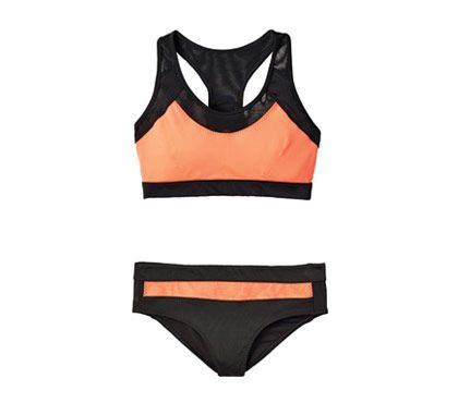 Show-Off-Your-Best-Bod Swimsuits: Minimize Your Butt - Make a full backside disappear in dark briefs. Top, $15, and bottom, $13, H&M; HM.com #SELFmagazine