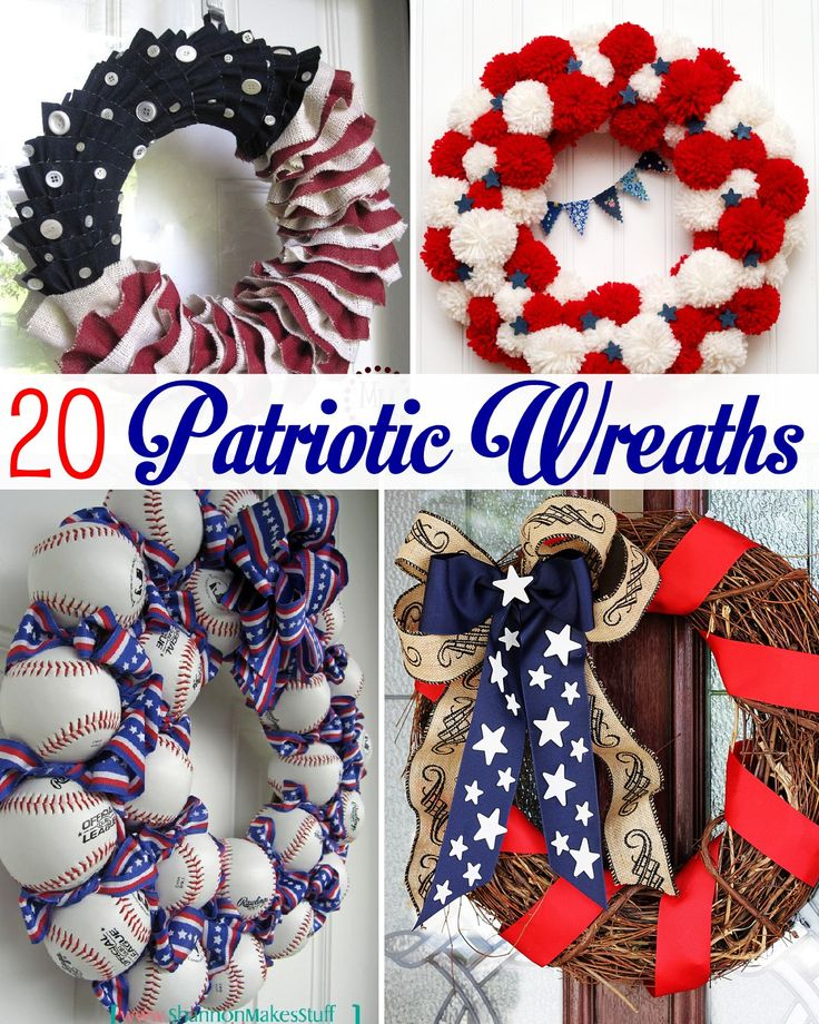 20 Patriotic Wreath Ideas - so many unique ideas!