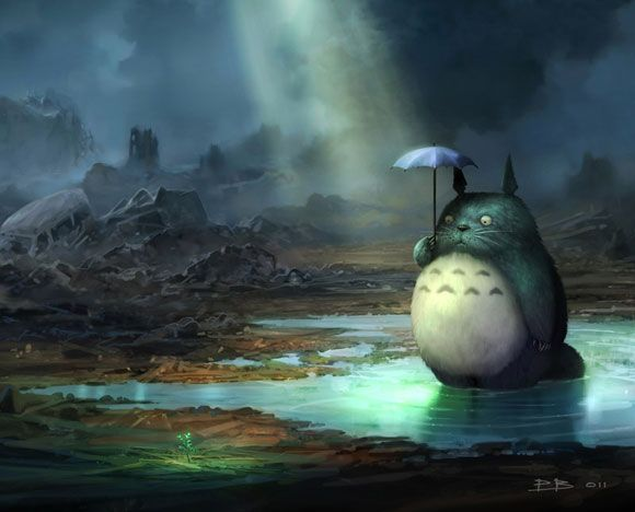 Totoro after the earthquake/tsunami