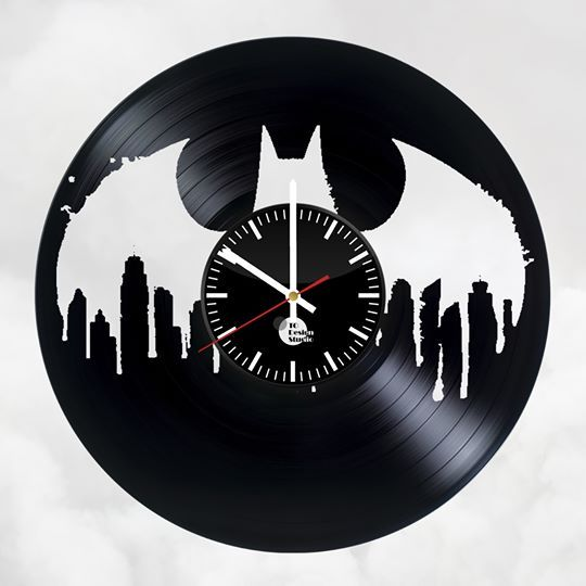 Batman Trilogy Handmade Vinyl Record Wall Clock Fan Gift