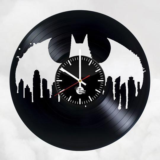 Batman Trilogy Handmade Vinyl Record Wall Clock Fan Gift Clock Vinyl