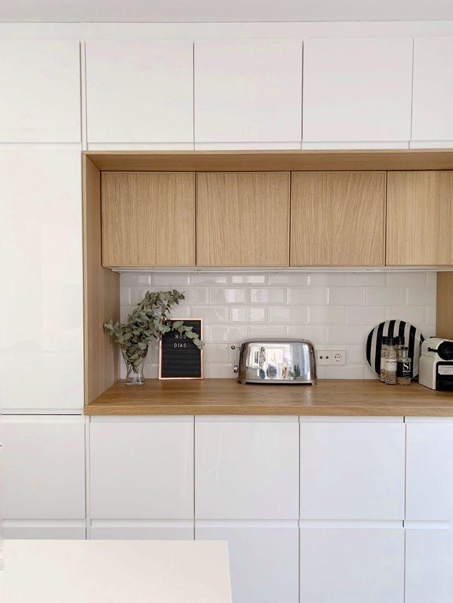 Mi Cocina Ikea En Blanco Y Madera Ikea Ikeacocina Ikeakitchen Cocina Blanca Y Madera Cocina Ikea Diseño Muebles De Cocina