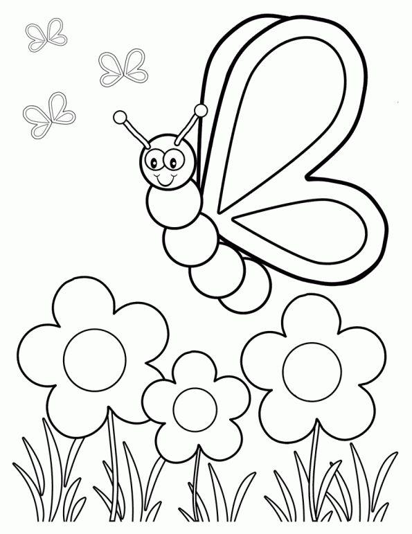 Vlinders Kleurplaat Vlinder Gebiedgif