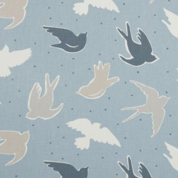 Seabirds Marine Curtain Fabric - Clarke And Clarke Maritime Prints - Seabirds Marine.Price Quoted Per Linear Metre.For Made to Measure Curtains or Roman Blind Prices in this Fabric,