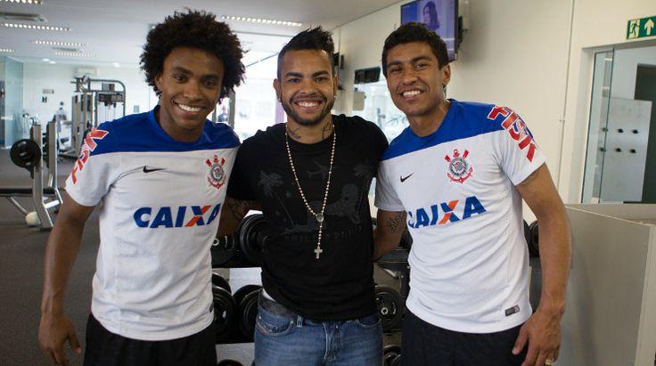 Sport Club Corinthians Paulista - Willian, Dentinho e Paulinho