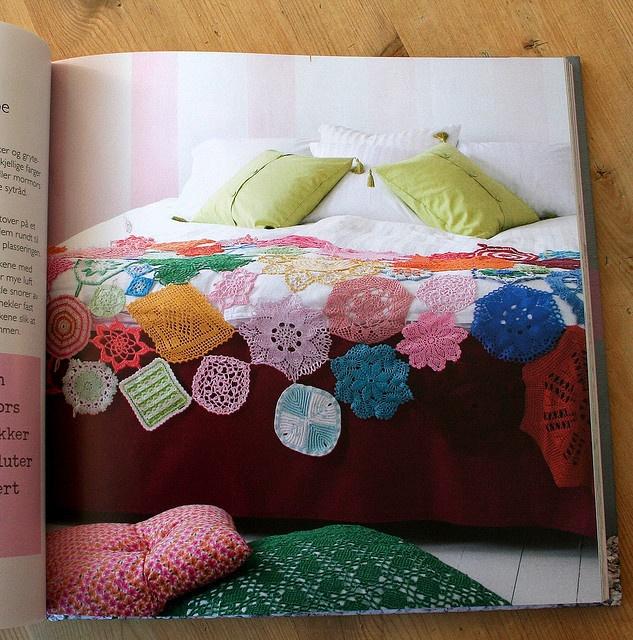 Potholder/doily crochet throw