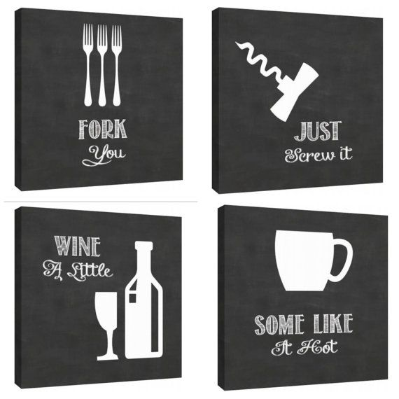 Lol.....Just roll with it Clever Kitchen art wall decor by TypeAndStyle