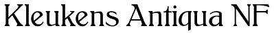 Font - Kleukens Antiqua NF