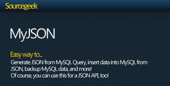 MyJSON - Work with MySQL + JSON